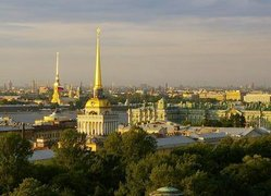 Skyline von St. Petersburg